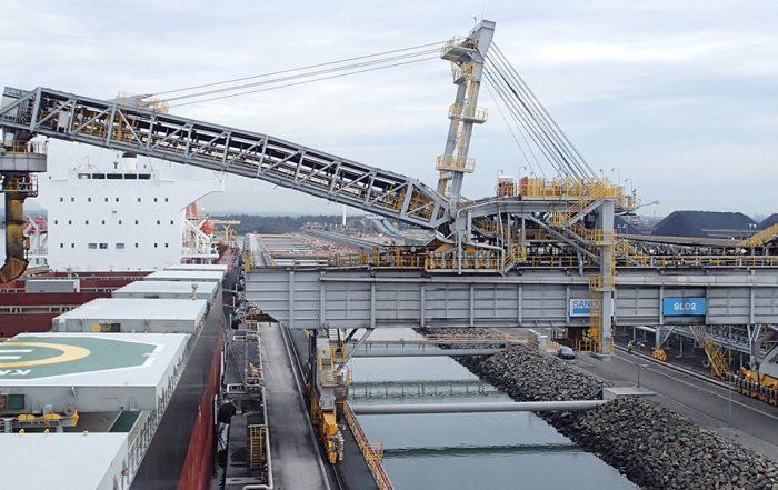 coal loader shiploader spout testing